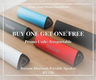 HOLIDAY SPECIAL: Purchase any Boytone Bluetooth Portable Speaker and get another one #FREE! Promo Code: freeportable