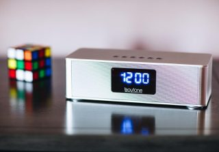 Inside and outside vibes.  The Portable Bluetooth Clock Radio. #Boytone Press 👉 link in bio to get yours.