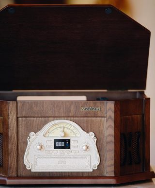 All Natural.  The real wood 25-Series #Boytone system that produces the sound you love and pairs with all your devices.
