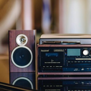 Amplify your music collection and enjoy the view.  The 28-Series in Mahogany-Gold by #Boytone.